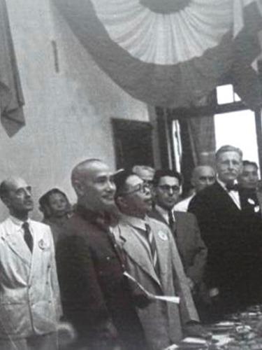 抗战胜利旧照:蒋介石笑了[图集]