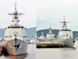 东海舰队4艘神盾舰罕见齐聚舟山