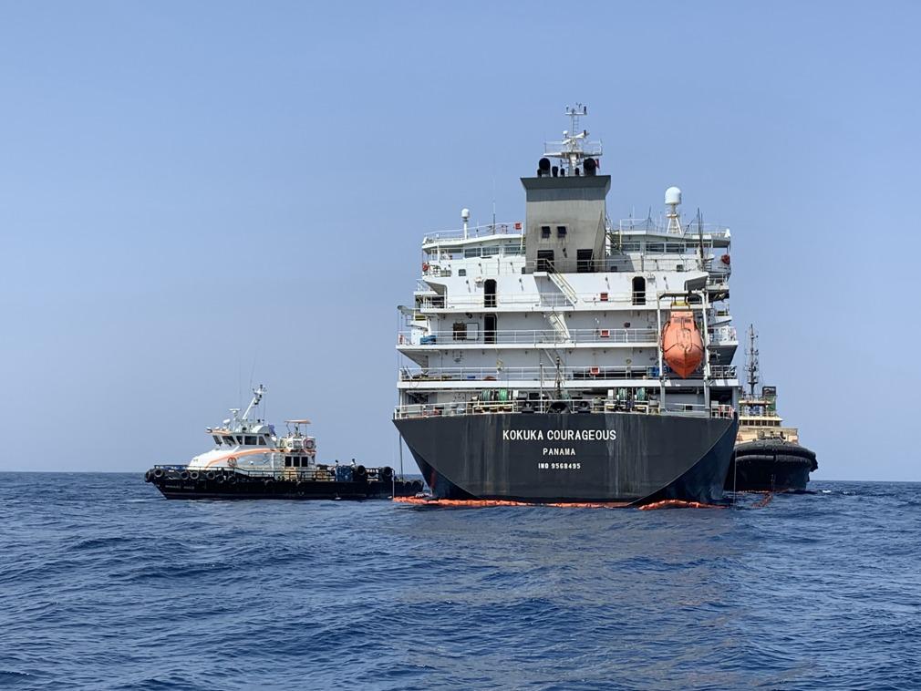 美国又抛伊朗袭击油轮新证据 搜到磁铁和水雷碎片[图集]
